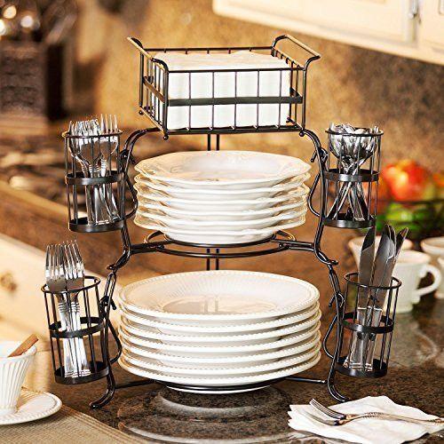 Giftburg 7-Piece Stackable Buffet Caddy   Buffet, Plate stands and ...