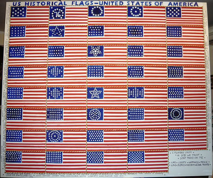 Historical US Flags - learn about the history of the American Flag for the Fourth of July