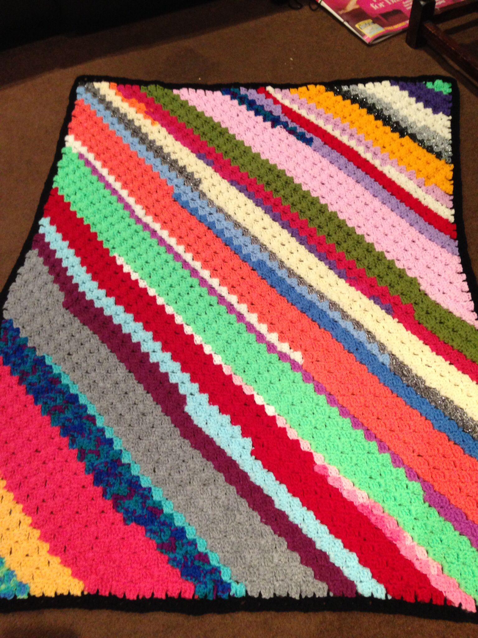 A Rectangular C2c Scrapghan Crochet Patterns Free