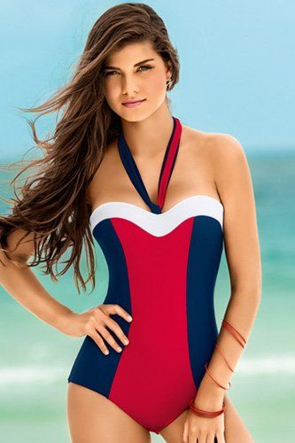 5708d94961bf5 Leonisa Flattering Strapless One Piece Bathing Suit with Tummy Control