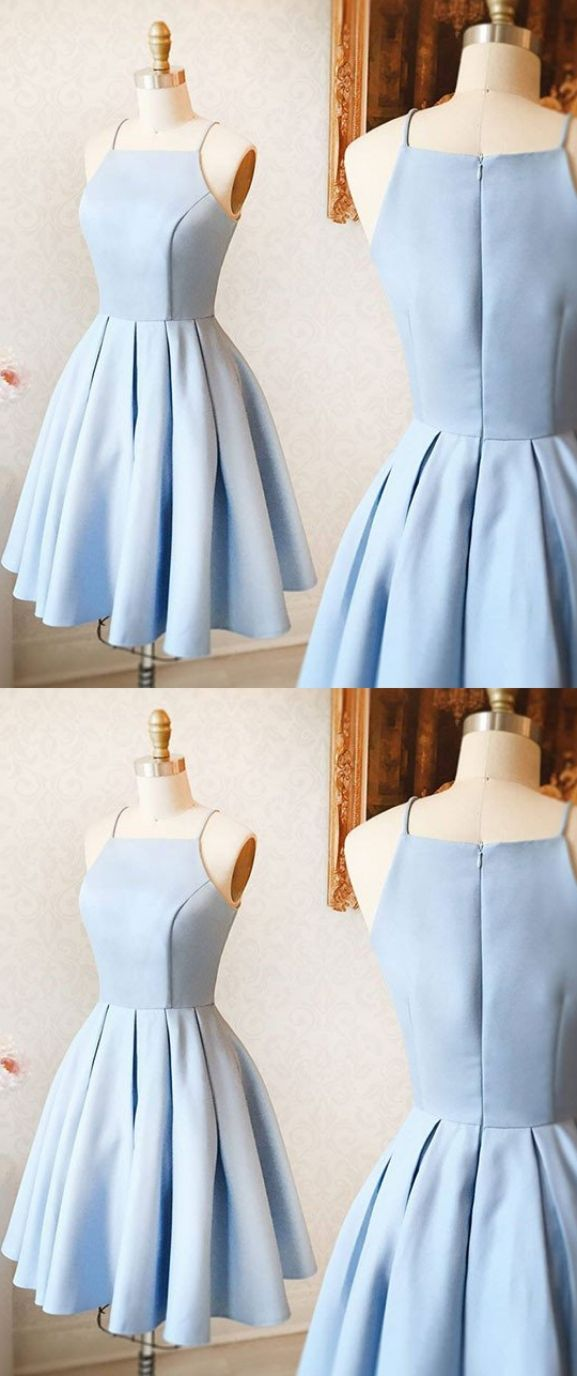 Hot sale light blue homecoming dresses short evening dresses short