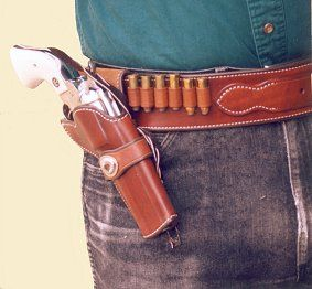 Cowboy Competition Rig - worn, holster view | Gun Rigs