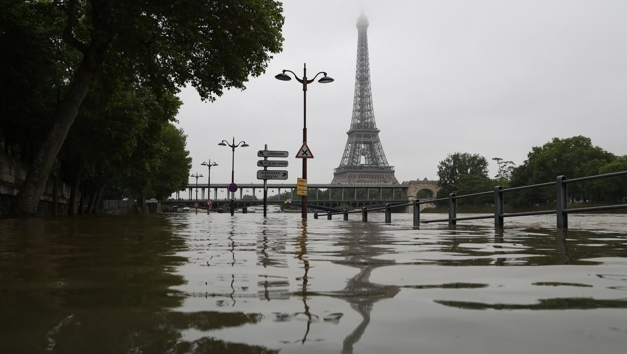Basement artworks at the Louvre are being relocated as Seine River rises; extensive flooding across Europe