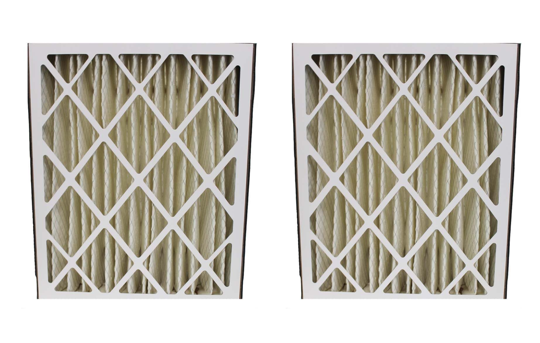 2pk Replacement 20x25x5 MERV8 Pleated HVAC Furnace