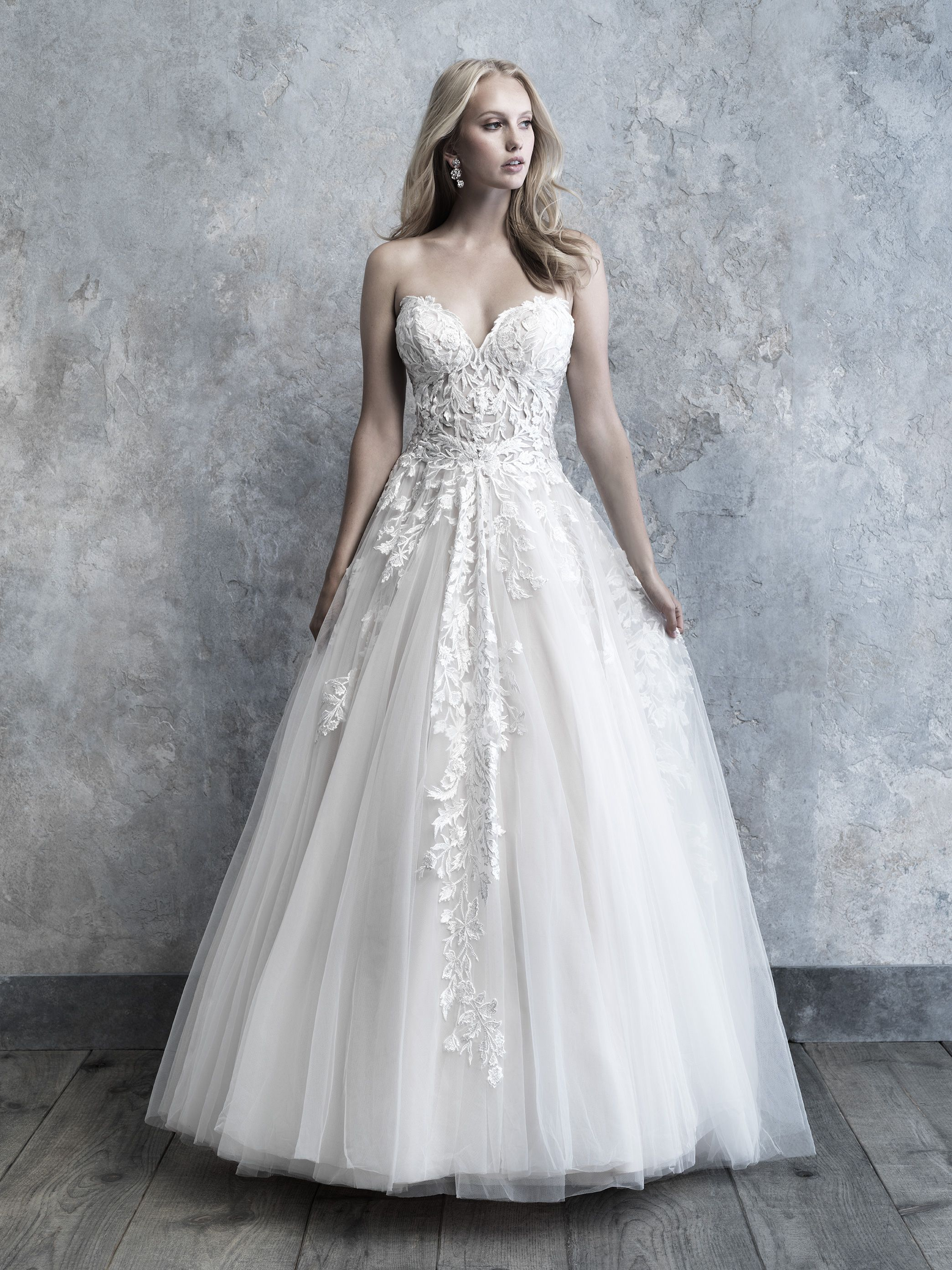 This Gorgeous Madison James Ballgown Is Now Available At Arlet Bridal Laceballgown Laceweddingdresses Ballgownweddin Ball Gowns Allure Bridal Tulle Ball Gown,50th Anniversary Golden Wedding Anniversary Dresses