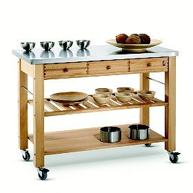Eddingtons-Three-Drawer-Lambourn-Trolley-With-Stainless-Steel-Top ...