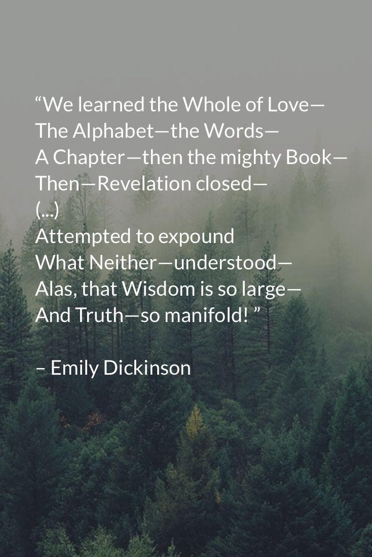 The Alphabet Of Love Emilyinson Poemsamerican
