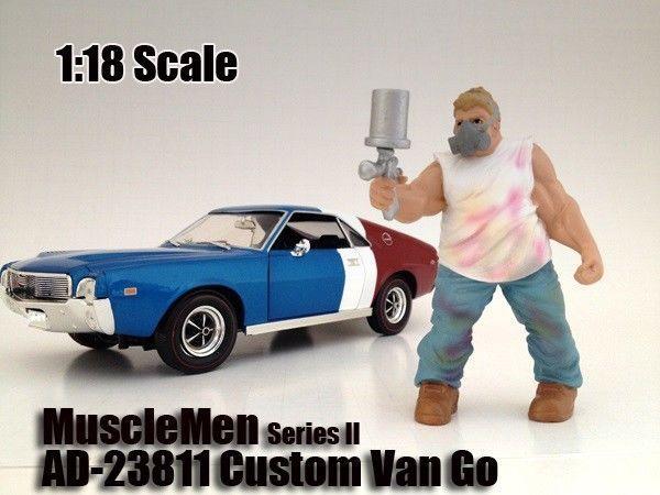 1:18 American Diorama Figure Musclemen Custom VanGo for your shop/garage/diorama picclick.com