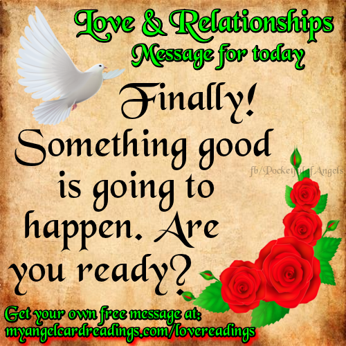 ALL NEW FREE Angel love messages. To get yours CLICK HERE ↘ http://www.myangelcardreadings.com/lovereadings