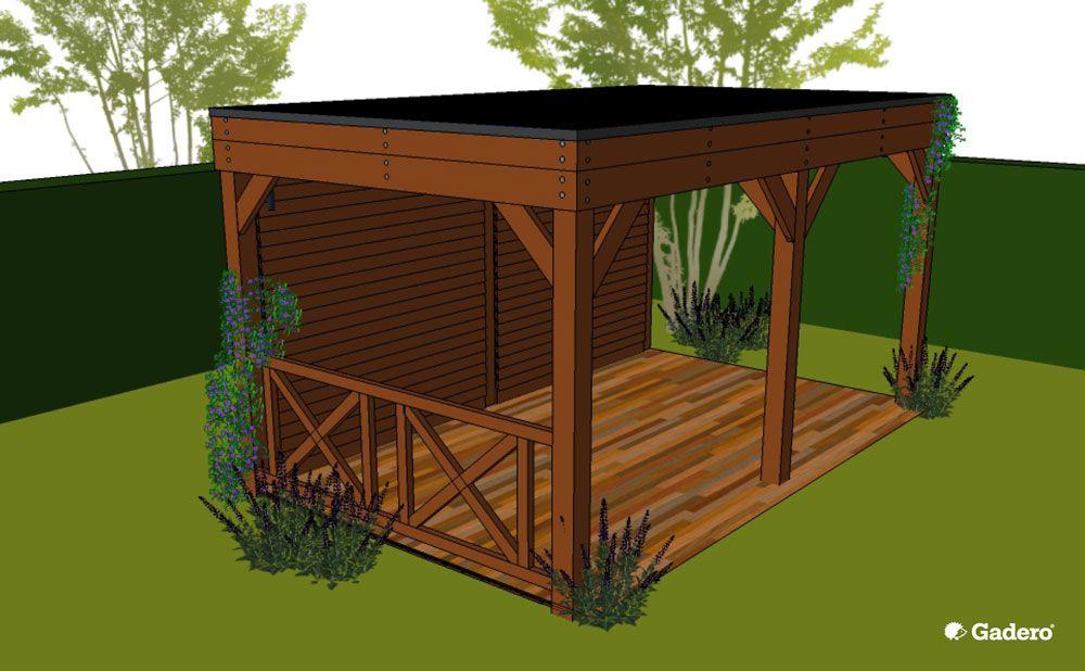 Bekend houten overkapping zelf bouwen (Gardero)   Tuin ideeën - Tuin @HF52