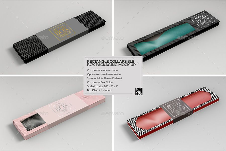 Download Rectangle Collapsible Box Packaging Mockup Packaging Mockup Box Mockup Box Packaging