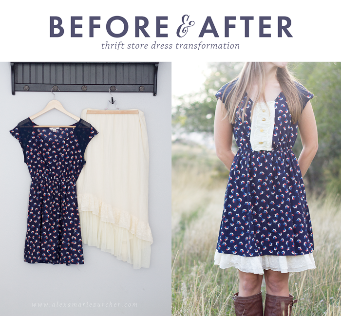Diy Refashioned Thrift Dress With Tagsthrift An Easy Way To Lengthen Those Dresses That
