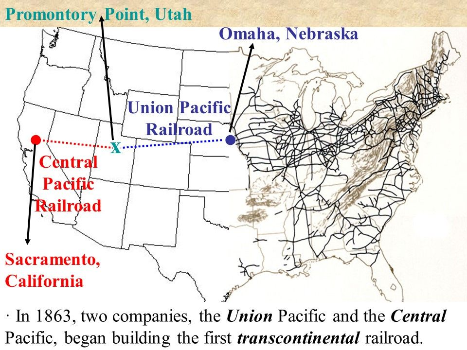 Transcontinental Railroad PowerPoint Presentation | Central ... on great northern railroad map, louisiana & arkansas railroad map, chicago, burlington and quincy railroad map, chicago & northwestern railroad map, santa fe railroad map, rock island railroad map, railroad tracks in colorado map, kansas city southern railroad map, ohio railroad map, wabash railroad map, burlington northern railroad map, soo line railroad map, amtrak map, norfolk southern railroad map, illinois railway museum map, current united states railroad map, indiana harbor belt railroad map, new york central railroad map, b&o railroad map, galena and chicago union railroad map,