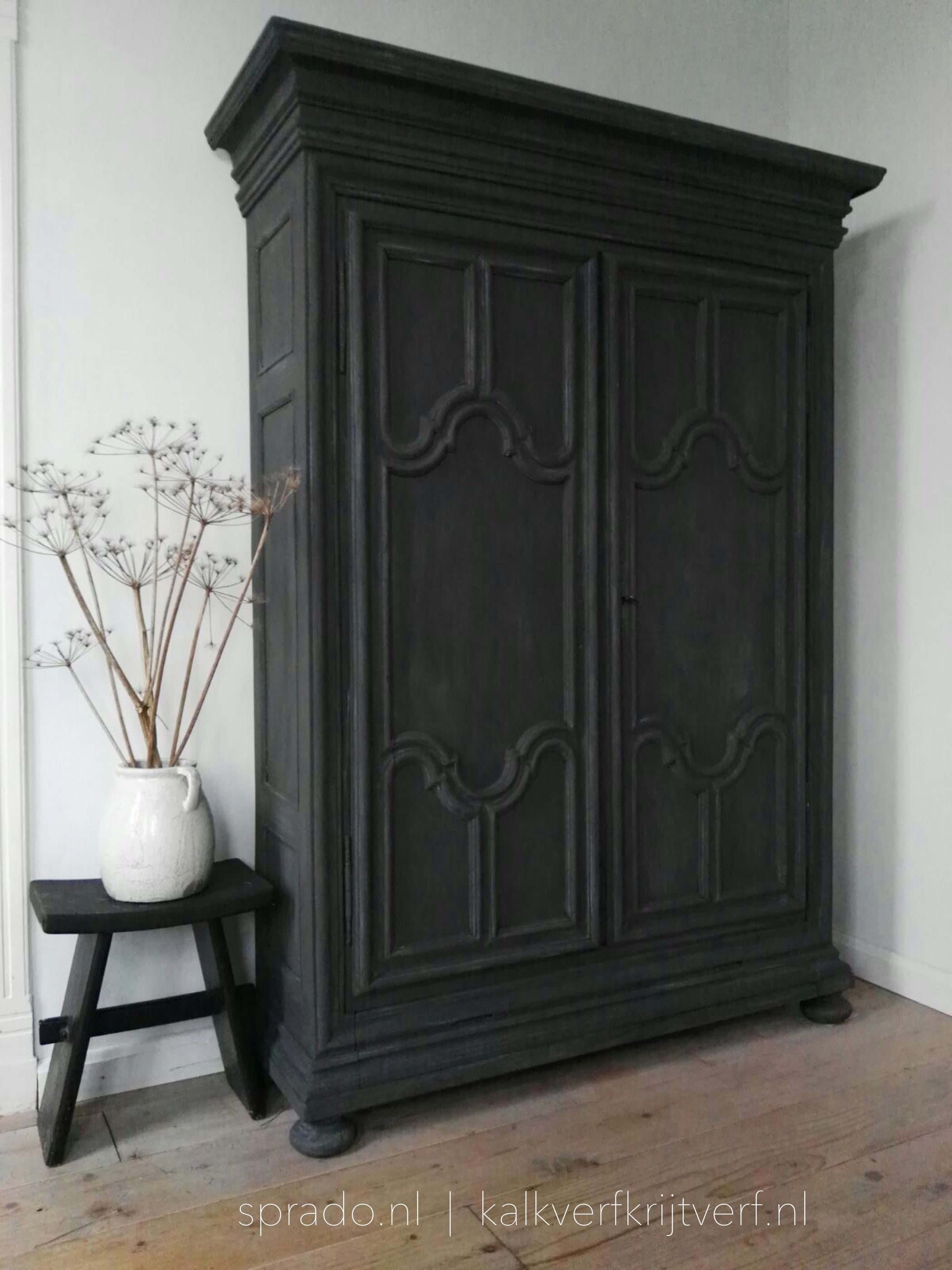 This Cabinet Is Painted With Fresco Lime Paint Coloure