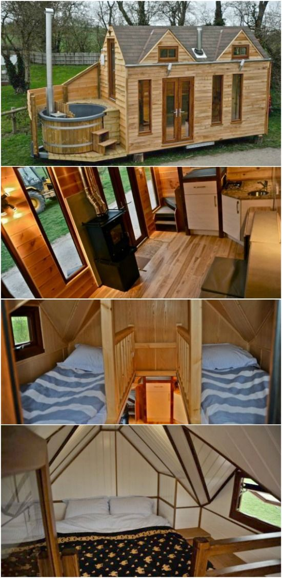 Tiny House With A Tiny Hot Tub By Tiny Wood Homes Of