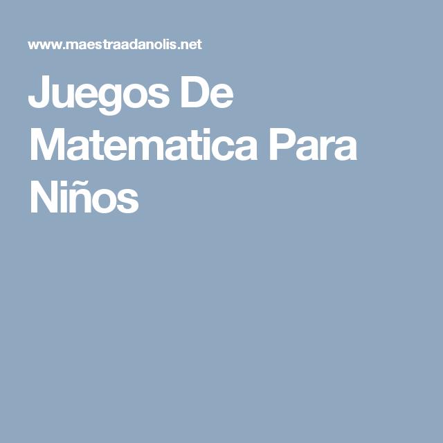 Juegos De Matematica Para Niños | HOJAS DE TRABAJO | Pinterest ...