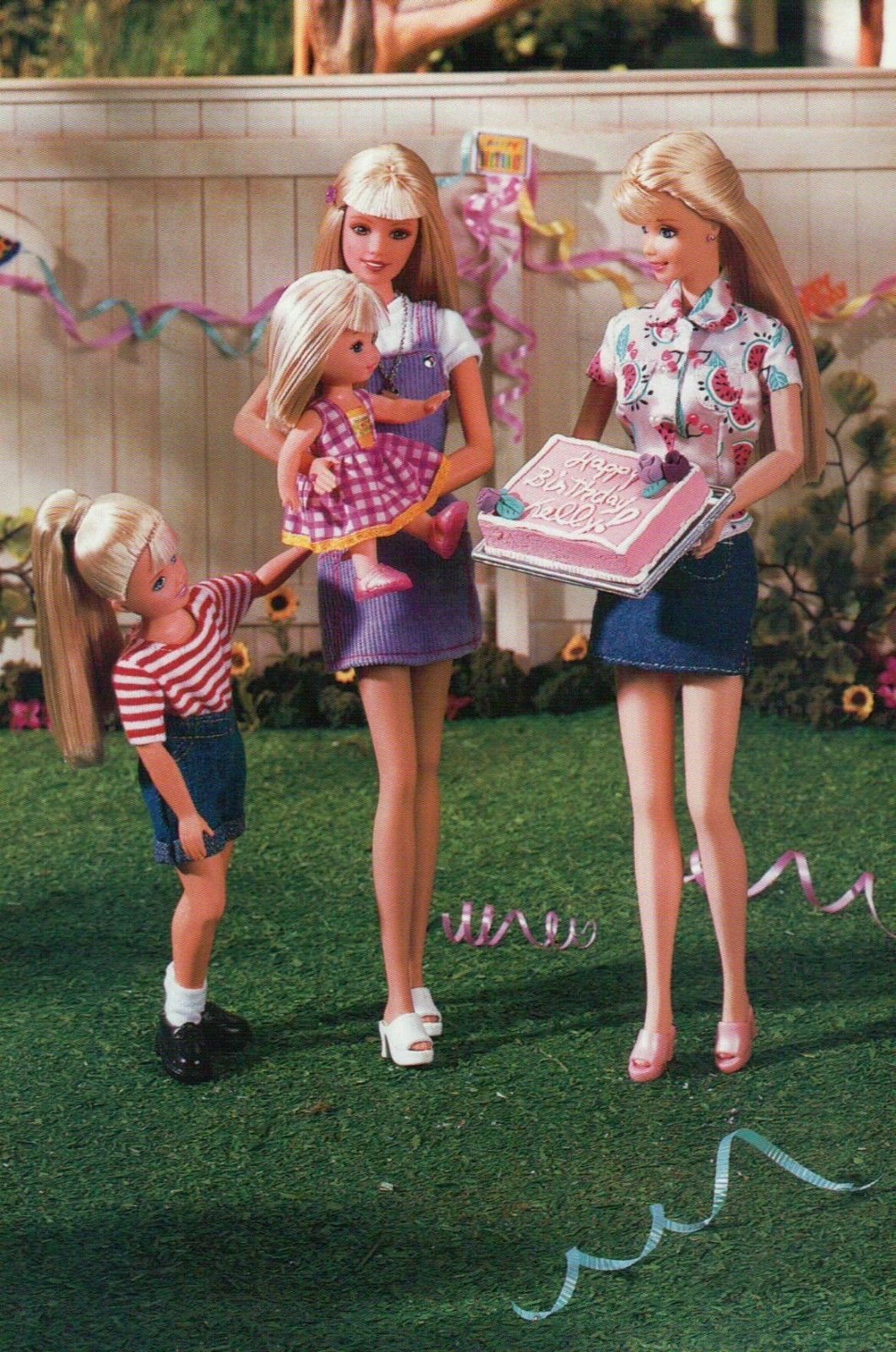 "Barbie Doll Postcard /"" A Juice Stop /"" Fashion Collectible Photo Card Mattel"