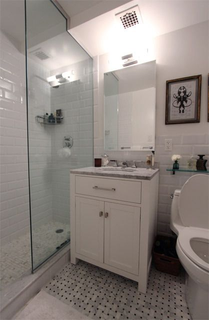 Small Bath With Glass Shower Basement Bathroom Remodeling