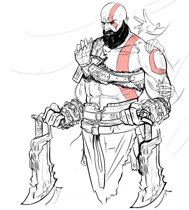 Kratos Y Las Espadas Del Caos Kratos God Of War God Of War Character Design