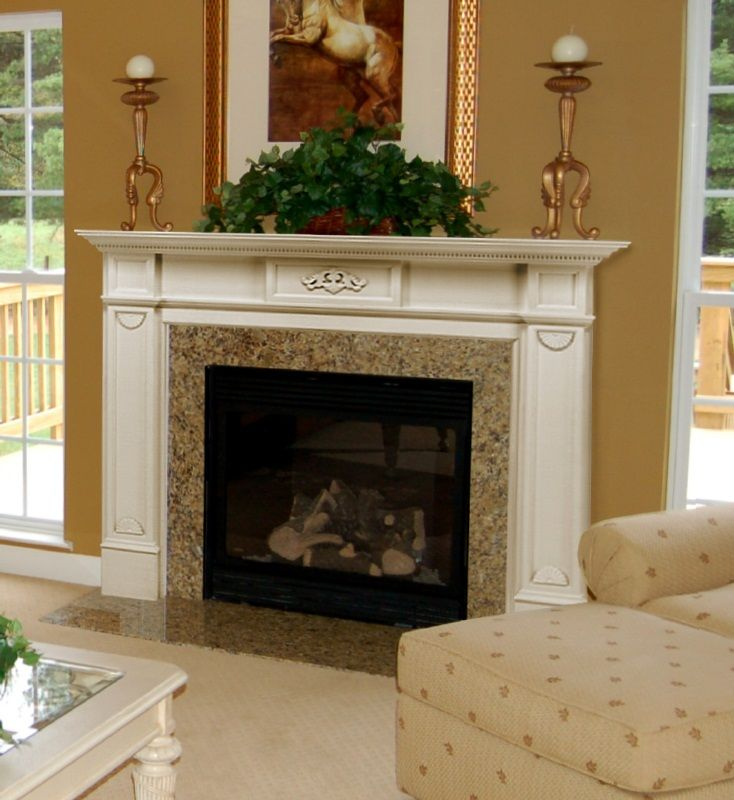 Fancy Fireplace Mantel Ideas Design Indoor Plant Horse Painting