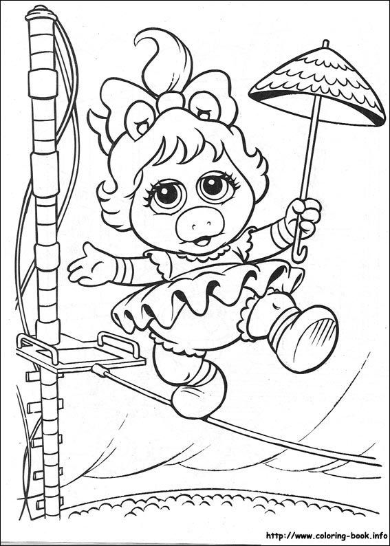 Muppet Babies Coloring Picture Cartoon Coloring Pages Baby Coloring Pages Coloring Books