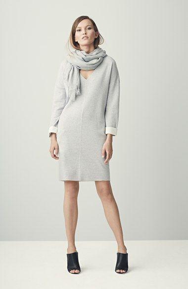 pale grey cozy sweater dress - nordstrom