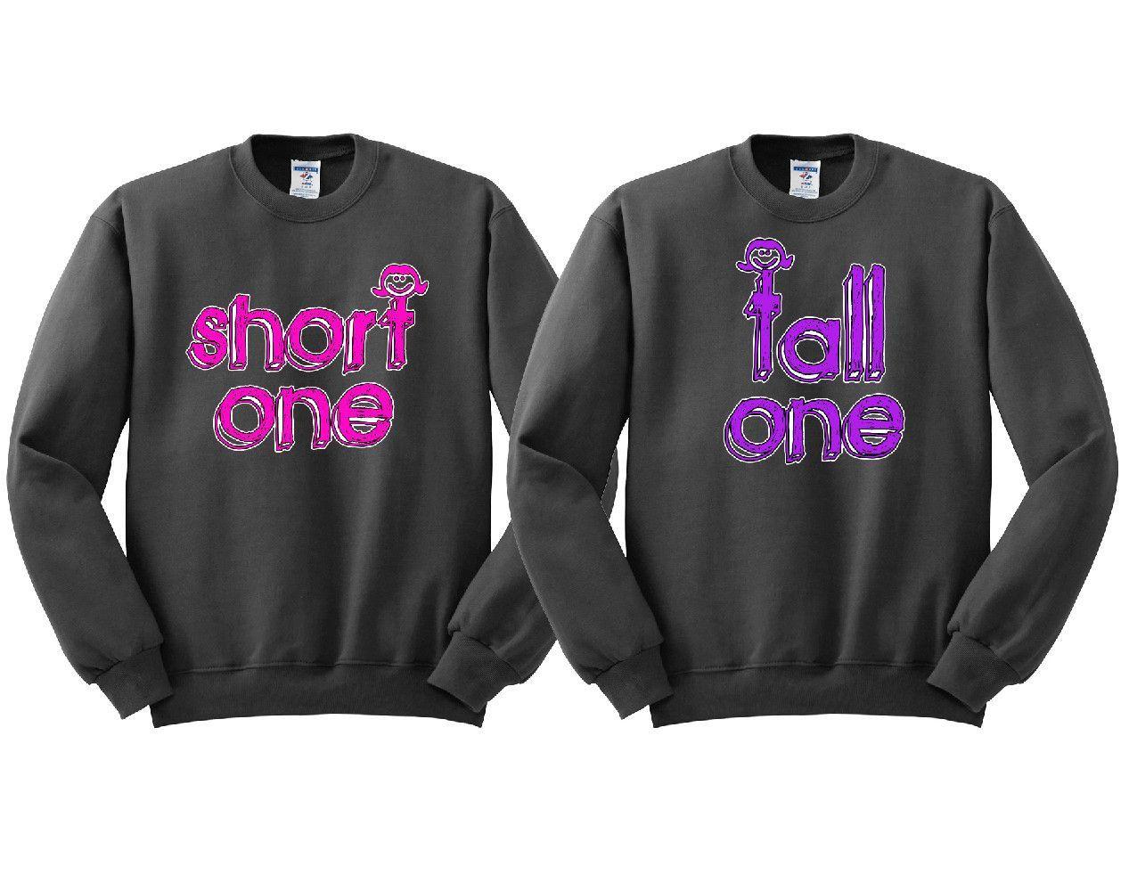 Short One Tall One Girl BFFS Sweatshirts