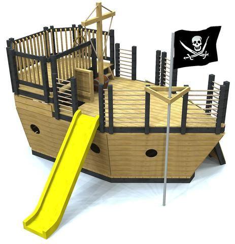 Edward Thatch Pirate Ship Play Plan   Play houses, Build a ...