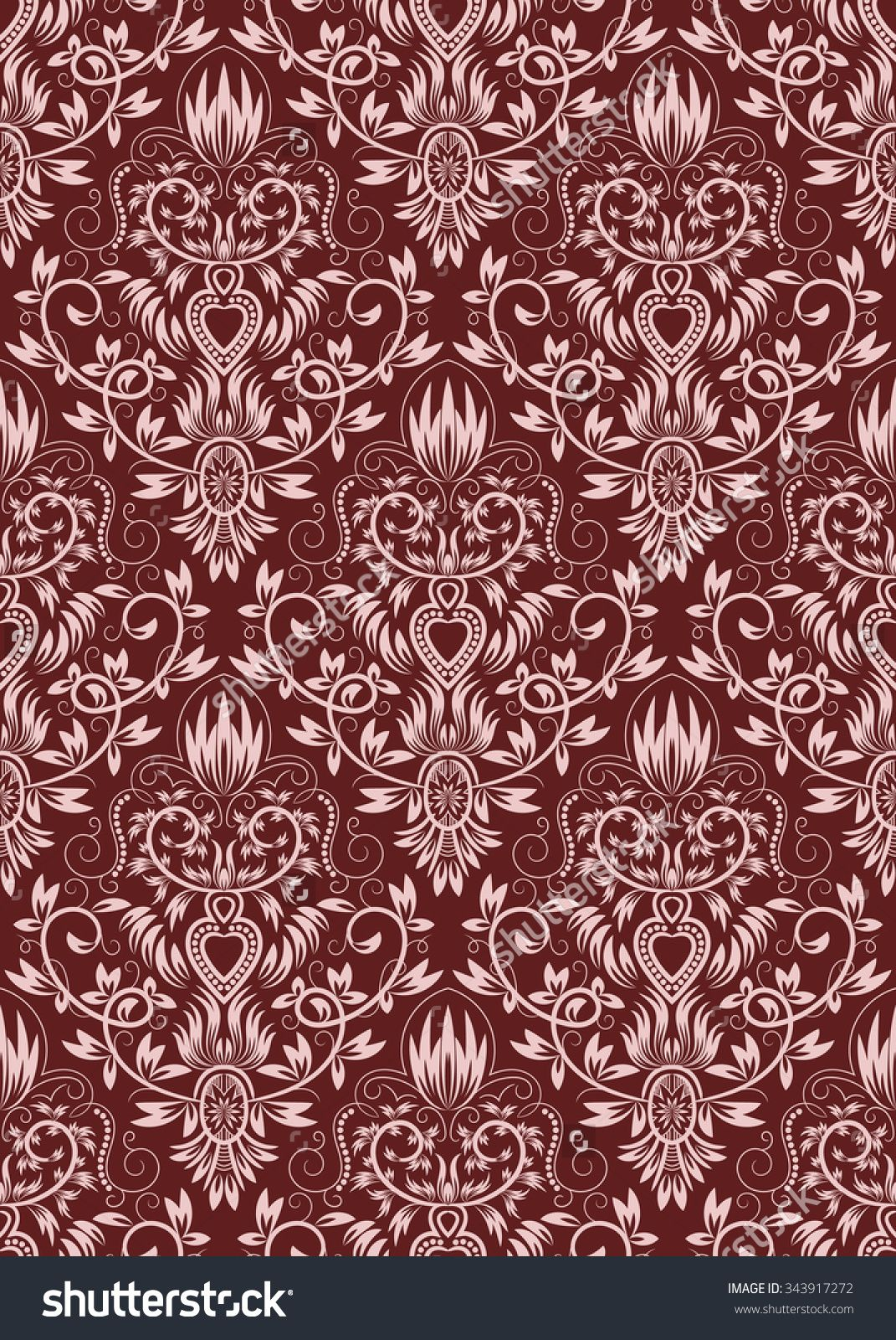 Damask seamless pattern repeating background burgundy floral burgundy floral ornament in baroque style dailygadgetfo Gallery
