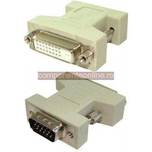 Adaptor Dvi D Dual Link Mama Vga Tata 126883 Dvi Vga Dual