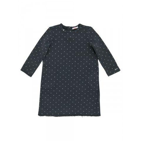 Girl's pois fleece cotton dress #SUN68 #SS16 #cotton #dress #kids