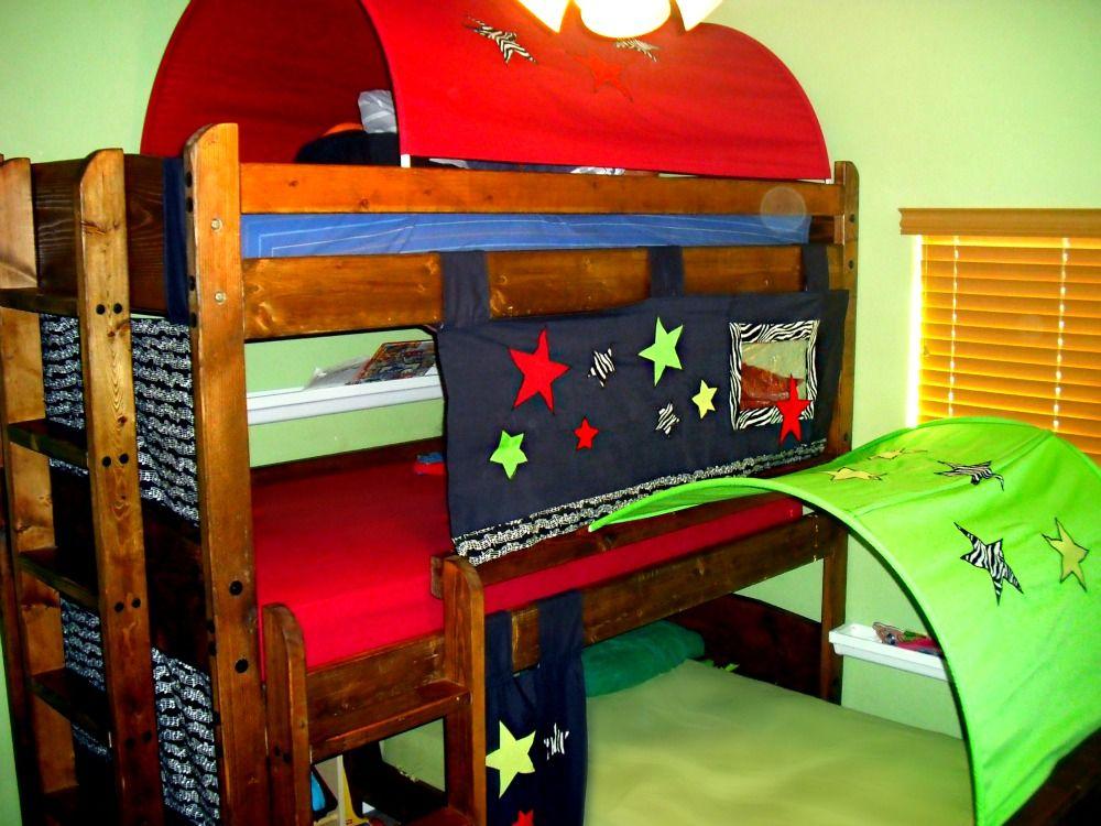 Litera triple Carpas cama con tubo de PVC arcos, apliques de ...