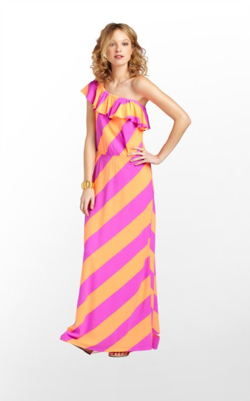 Lilly Pulitzer Marley Maxi Dress. Would this work on a person 5' 2.5""