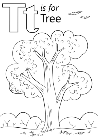 Letter T Is For Tree Coloring Page From Letter T Category Select From 26388 Printable Crafts Of Cartoons N Abc Coloring Pages Abc Coloring Tree Coloring Page