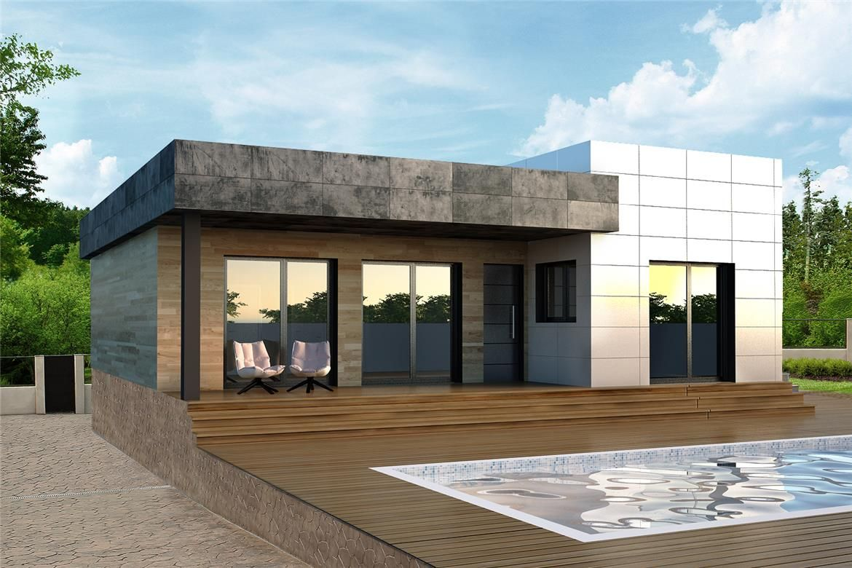 Villaviciosa de odon 150 m2 casas construidas con hormig n celular y trasdosado arquitectura - Materiales para casas prefabricadas ...