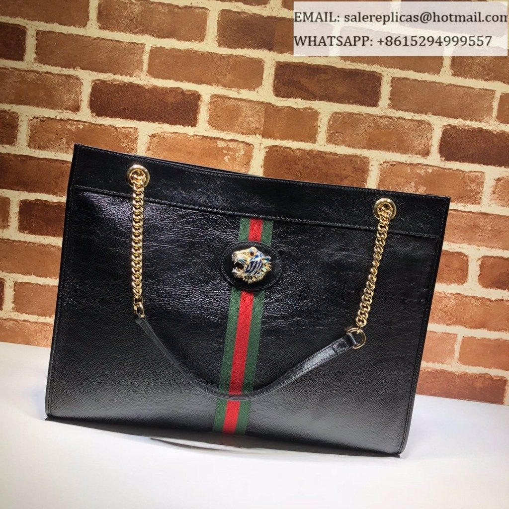 4f7d4d7536 Gucci Rajah large tote 537219 Black
