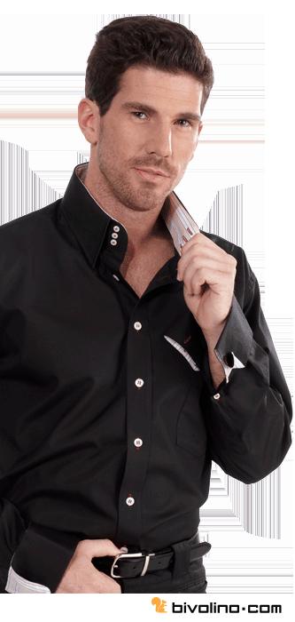 Black tailored shirt. The black tailored shirt with a high collar ...