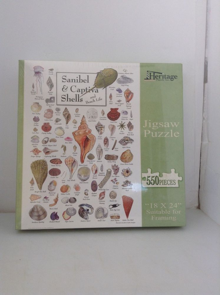 550 Piece Sanibel And Captiva Shells Jigsaw Puzzle Brand New Unopened Complete #Heritage