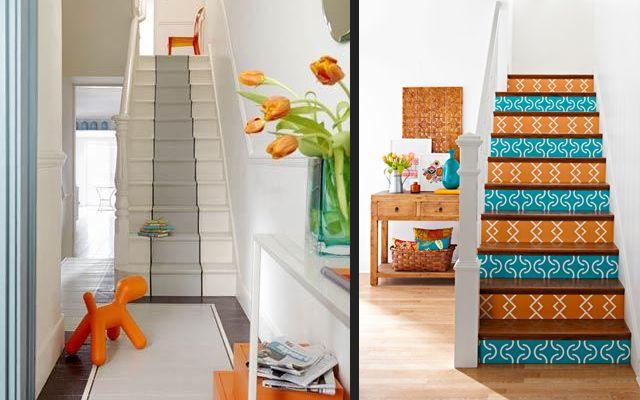 Cuando los pisos tienen más de una planta, decorar la escalera de la - decoracion de escaleras