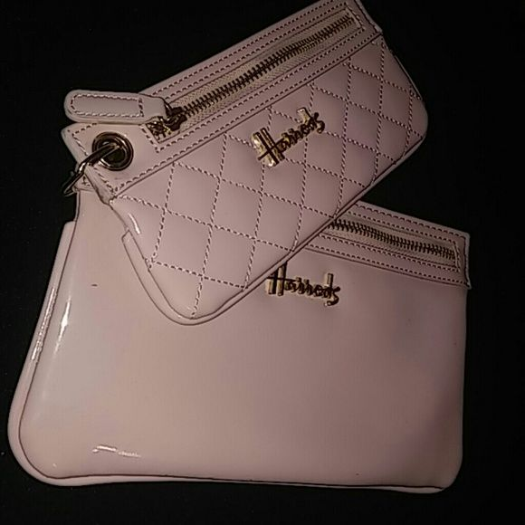 Harrods London Soft Pink wallets Bundle Dual wallets from Luxury store in london soft pink These are Patent material shiny lovely Harrods Bags Wallets