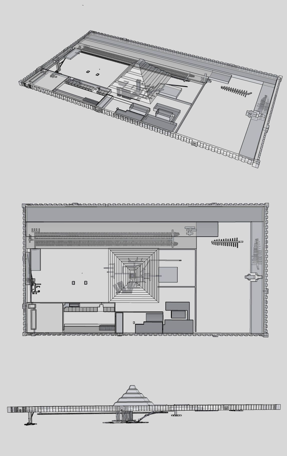 Perspective View Plan And Elevation Images Djoser S