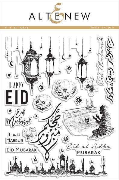 Eid Al Adha Stamp Set With Images Eid Al Adha Stamp Set Eid