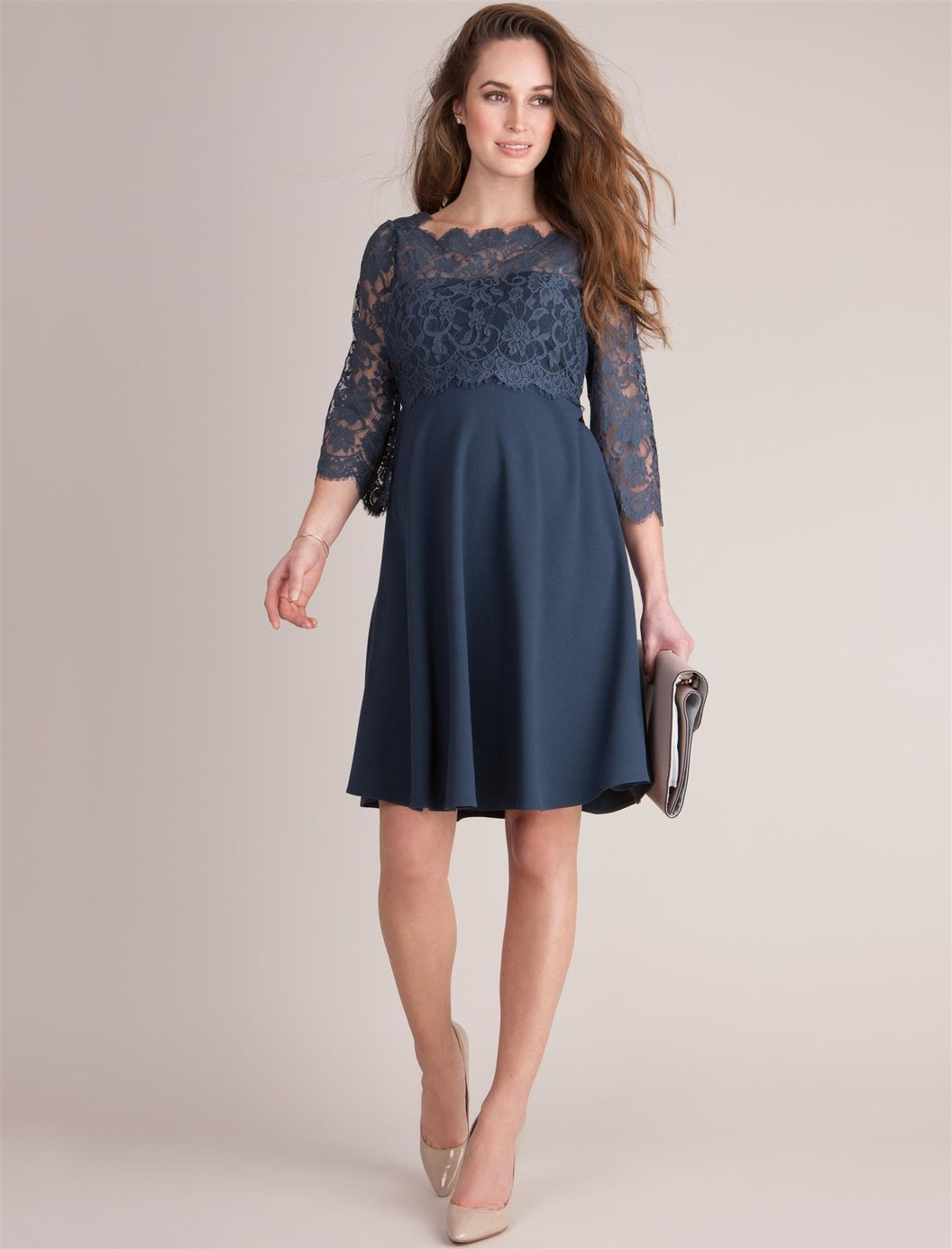 Web only seraphine babydoll maternity dress a pea in the pod feel glamorous throughout pregnancy afterwards with seraphines teal blue lace top maternity dress perfect for special occasions ombrellifo Choice Image
