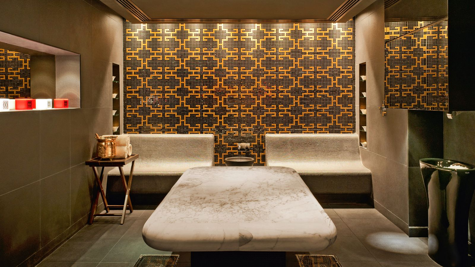 Hammam Rooms At Grosvenor House Dubai That Is A Heated Marble Slab Luxury Collection Hotels Grosvenor House Hotel Spa