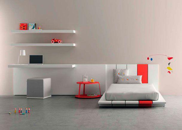 Juvenil moderno con escritorio y estantes novedades de - Estantes dormitorio juvenil ...