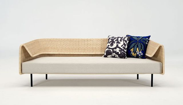 minimalist modern landscape design with rattan sofa   Salon de Milan 2015   Furniture, Sofa, Furniture inspiration