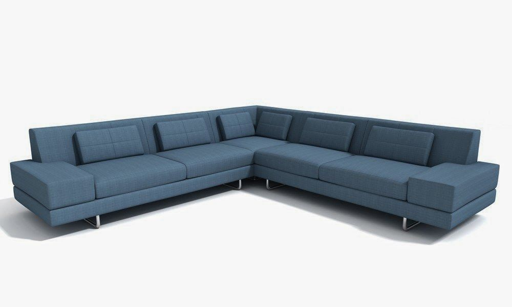 Blue Couch Sectional