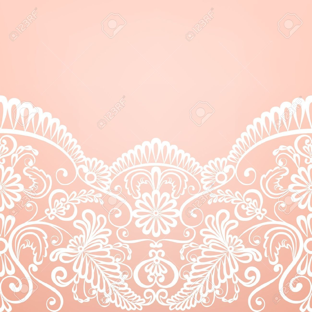 template for wedding invitation or greeting card with With lace fabric wedding invitations