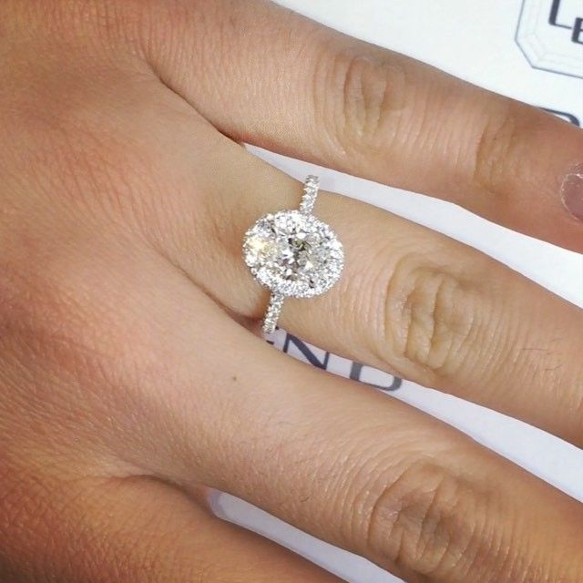 4 179 Likes 470 Comments Lauren B Laurenbjewelry On Instagram Just Put The Fini Double Halo Oval Engagement Ring Oval Halo Engagement Ring Pretty Rings