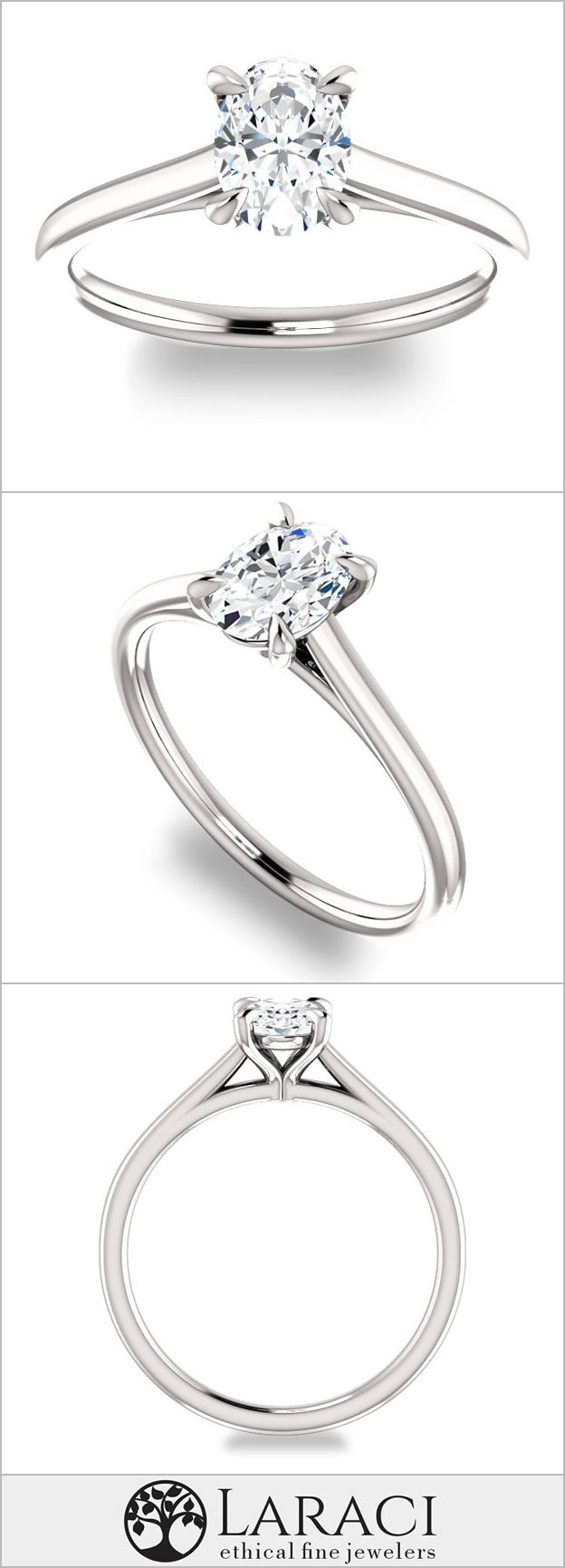 K white gold solitaire engagement ring set with a ct xmm